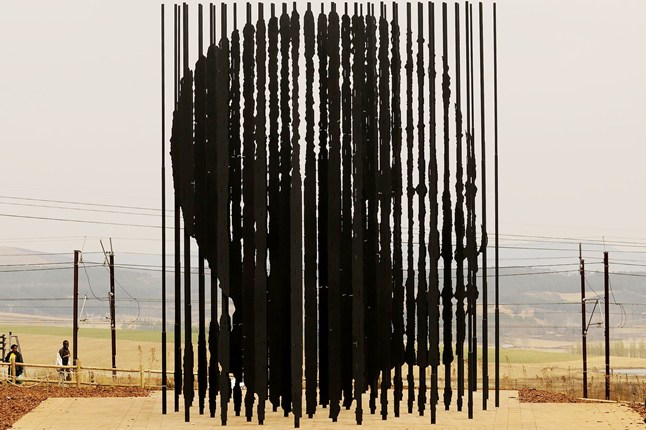 Mandela Head sculpture from steel